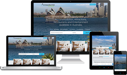 Australia Accommodation displayed beautifully on multiple devices